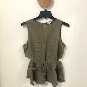 Lou & grey cut out sleeveless blouse